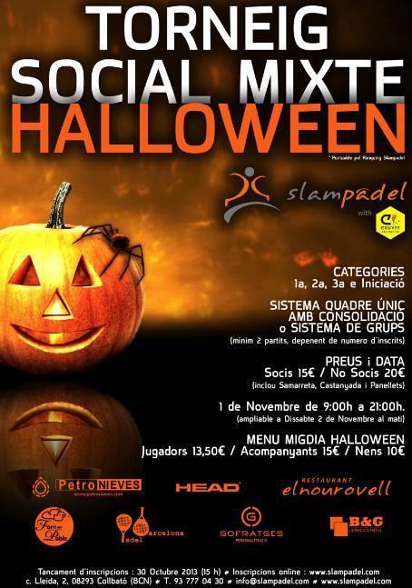 Torneo social mixto Halloween en el slampadel