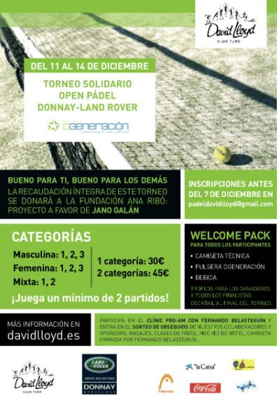 Torneo solidario Open Padel Donnay-Land Rover