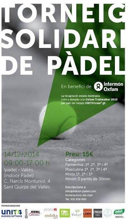 Torneo solidario de pádel en benefici de Oxfam Intermón Trailwalker