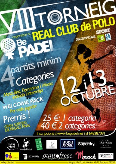 VIII Torneo Bepadel en el Real club de Polo