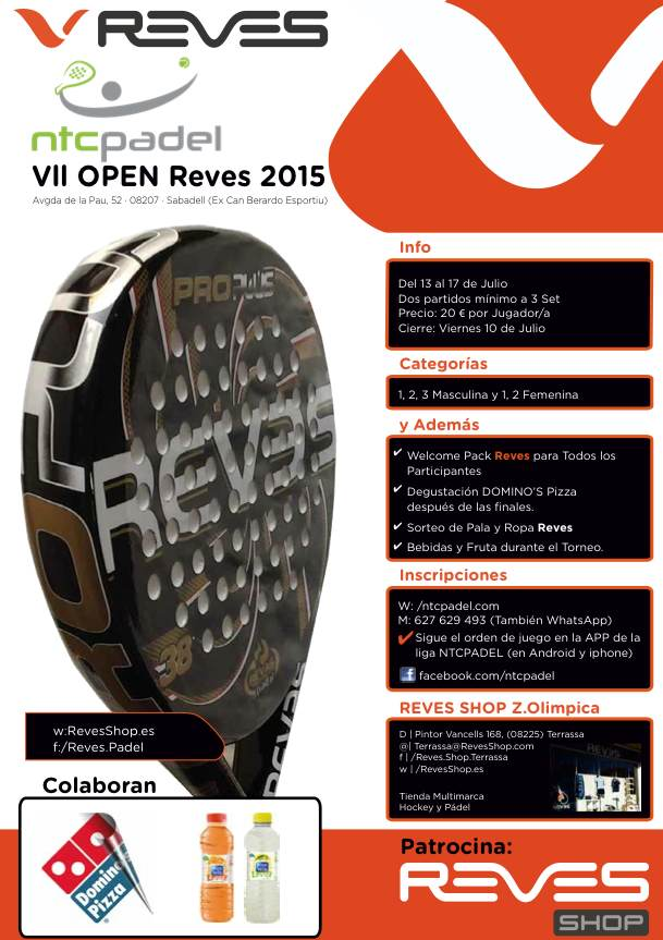 VII OPEN Reves Ntc Padel 2015