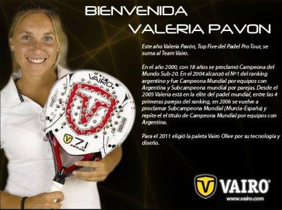 Valeria Pavón ficha por Vairo