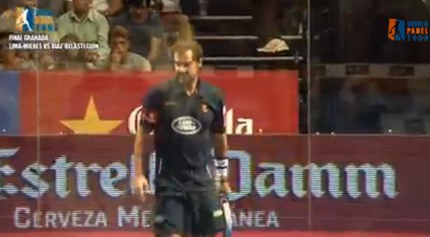 Video partido padel World Padel Tour Granada 2013  Lima - Mieres contra Diaz y Belasteguin