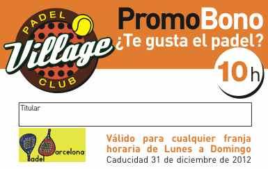 Vuelven los PromoBonos de Village Padel Club