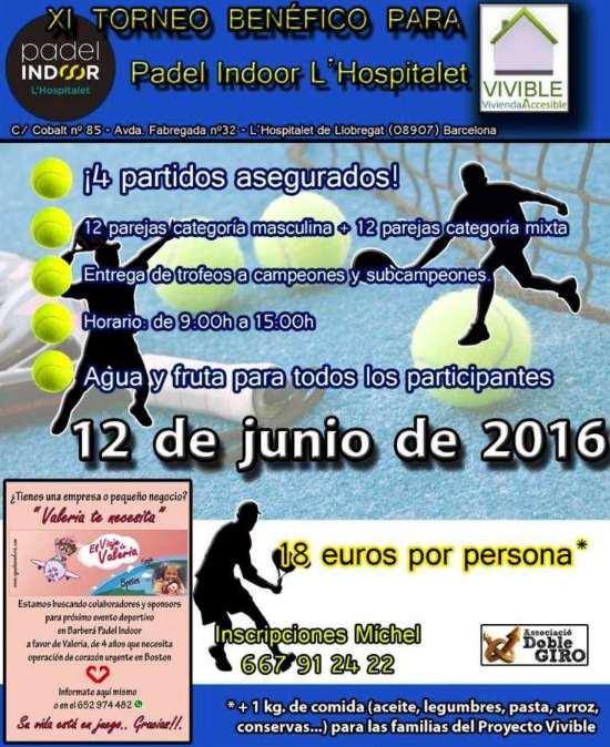XI Torneo Benefico en el Padel indoor Hospitalet