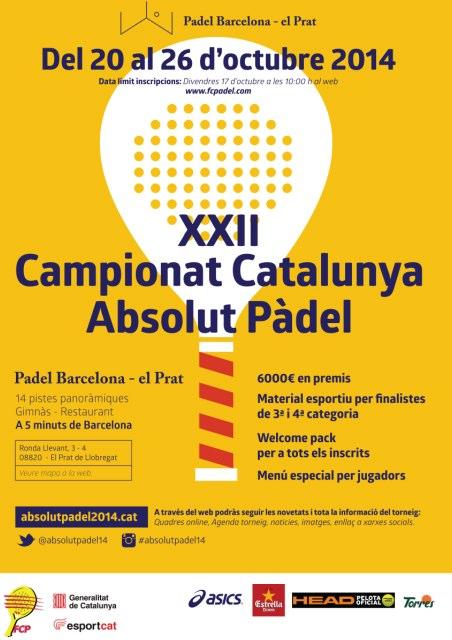 XXII Campeonato de Catalunya absoluto de padel 2014