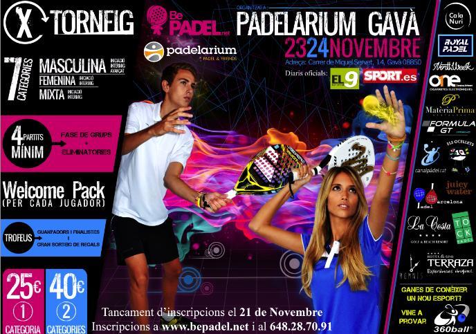 X Torneo de padel Bepadel en el Padelarium de Gava