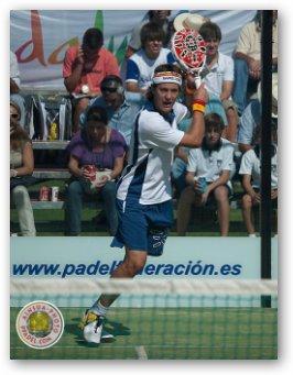 Andoni Bardasco en el campeonato del mundo de padel de menores