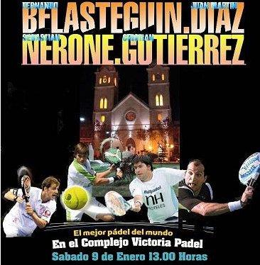 Fernando Belasteguín y Cristian Gutiérrez se batirán a Juan Martín Díaz y Sebastián Nerone