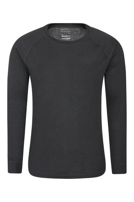 Camiseta interior negra de hombre para correr en invierno.