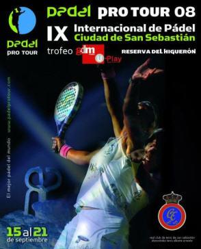 cartel IX Internacional de padel Ciudad de San Sebastián