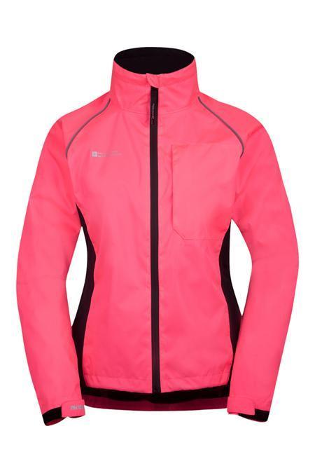 chaqueta de running rosa para mujer