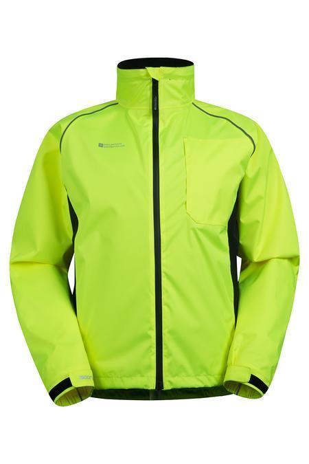 chaqueta de running verde para ropa de invierno