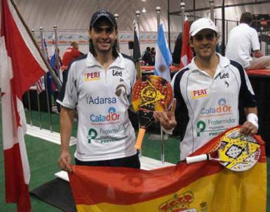 David Losada y Juani Mieres campones del mundo de padel 2008