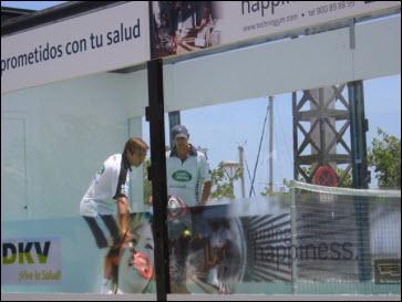 El Roadshow de padel en Barcelona