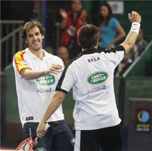 FERNANDO BELASTEGUIN Y JUAN MARTIN DIAZ campeones del master padel 2009