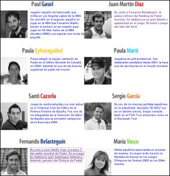 Fernando Belasteguin y Juan Martíz Díaz colaboran en el Proyecto Campeones