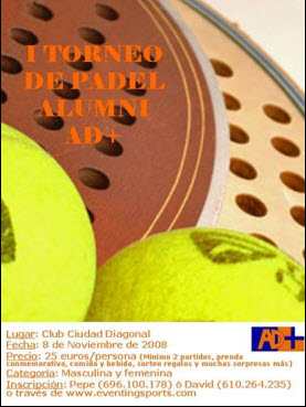 I Torneo de padel Alumni AD+