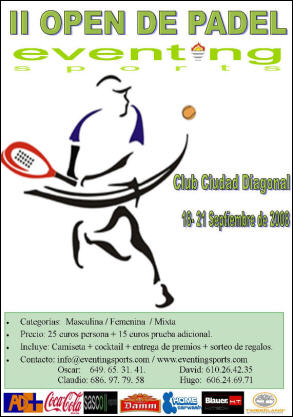 II open padel eventing sports barcelona
