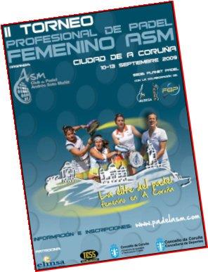 II Torneo profesional de padel femenino ASM