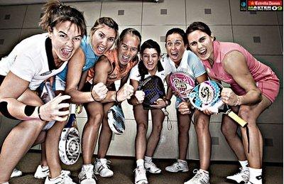 Las chicas del Master Padel 2009