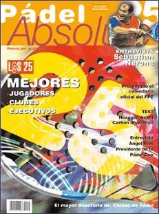 Número 25 de la revista Padel Absolute