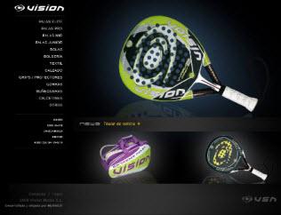 Nueva página web de la marca de palas de padel Vision