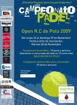 Open de padel R. C de Polo de Barcelona