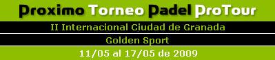 Semifinales del II Internacional de padel Ciudad de Granada