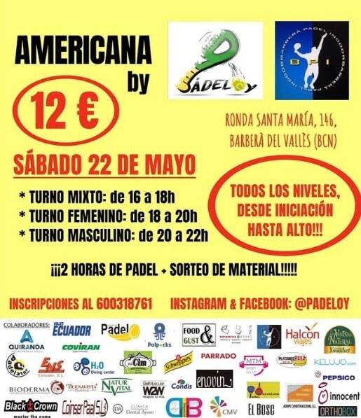 Torneo americana Padeloy