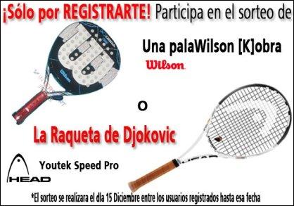 Sorteo Pala de padel Wilson Kobra en Intersport Ponce