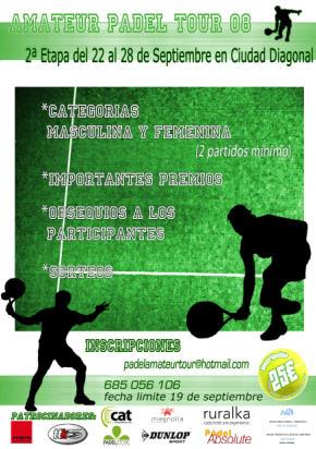 torneo amateur padel tour barcelona 2008