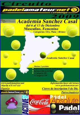 Torneo de Padel Amateur en la Academia Academia Sanchez-Casal