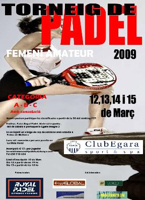 Torneo de padel femenino amateur en el Club Egara