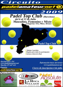 Torneo Padel Amateur en el Padel Top Club