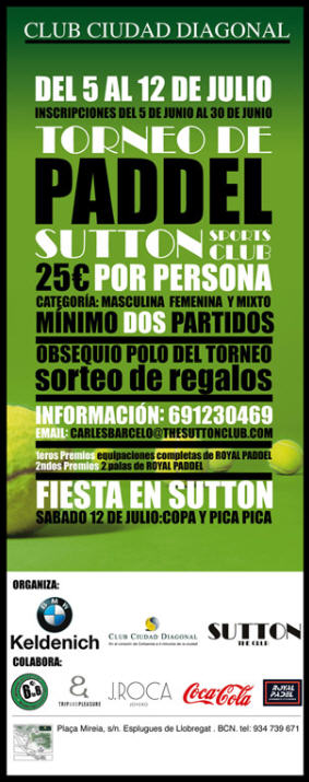 torneo padel sutton sports club