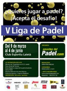 V LIGA DE PADEL'09